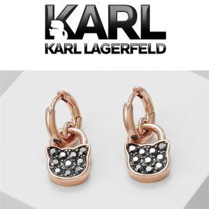 KARL LAGERFELD SMALL CHOUPETTE LOCK HOOP Earrings